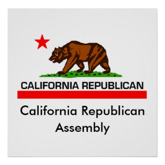 California Republican POSTER Print