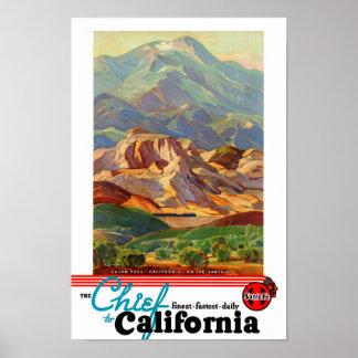 California Restored Vintage Travel Poster