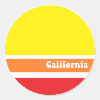 California retro sticker