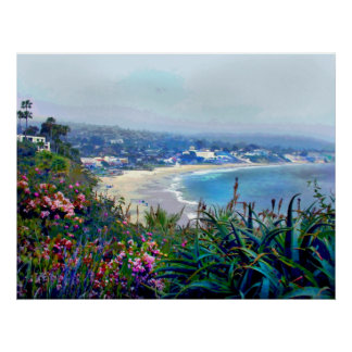 California Riviera of Laguna Beach Poster