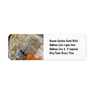 California Roll - Vegetarian Sushi Return Address Labels