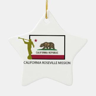 CALIFORNIA ROSEVILLE MISSION LDS CTR CERAMIC ORNAMENT