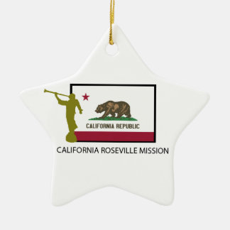 CALIFORNIA ROSEVILLE MISSION LDS CTR CERAMIC STAR ORNAMENT