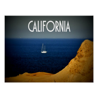 California Sailboat Poster