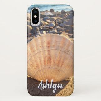 California sandy beach seashell photo custom name Case-Mate iPhone case