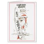 California Santa Christmas Card