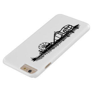 California Santa Monica CA Iconic Pier Silhouette Barely There iPhone 6 Plus Case