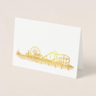 California Santa Monica CA Pier Beach Ferris Wheel Foil Card