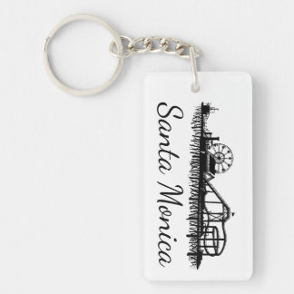 California Santa Monica CA Pier Beach Ferris Wheel Keychain