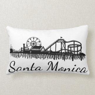 California Santa Monica CA Pier Beach Ferris Wheel Lumbar Pillow