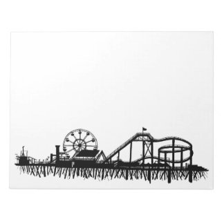 California Santa Monica CA Pier Beach Ferris Wheel Notepad