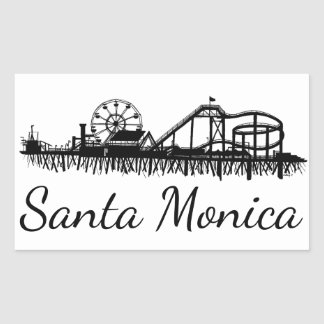California Santa Monica CA Pier Beach Ferris Wheel Sticker