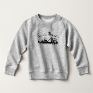 California Santa Monica CA Pier Beach Ferris Wheel Sweatshirt