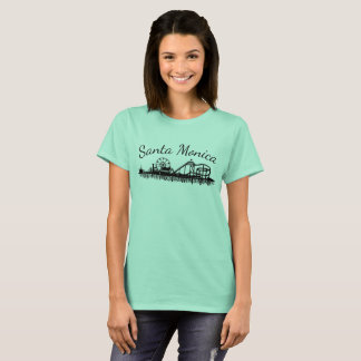 California Santa Monica CA Pier Beach Ferris Wheel T-Shirt
