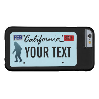 California Sasquatch License Plate Barely There iPhone 6 Case