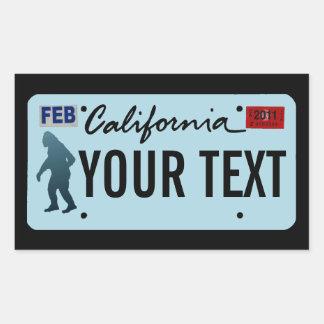 California Sasquatch License Plate Sticker
