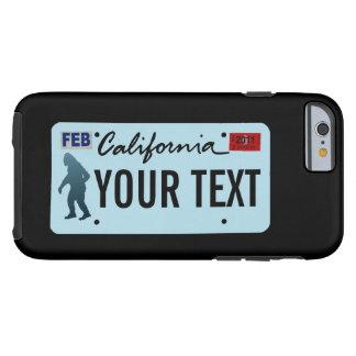 California Sasquatch License Plate Tough iPhone 6 Case
