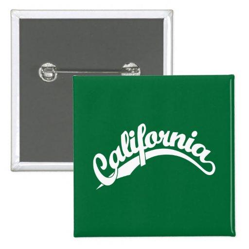 California Script logo in White Pinback Button