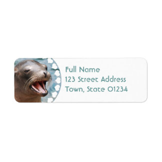 California Sea Lion Return Address Mailing Labels