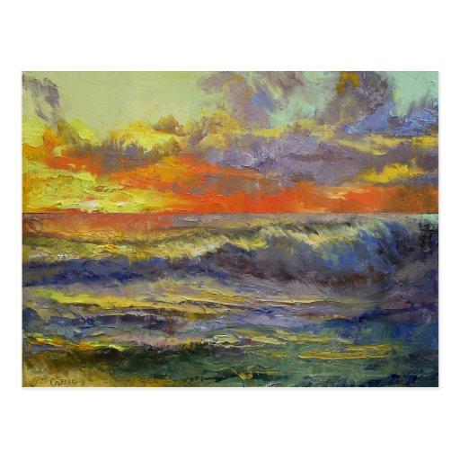 California Seascape Post Card