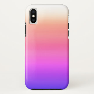 California Sky Ombre Watercolor Pink Peach Purple iPhone X Case