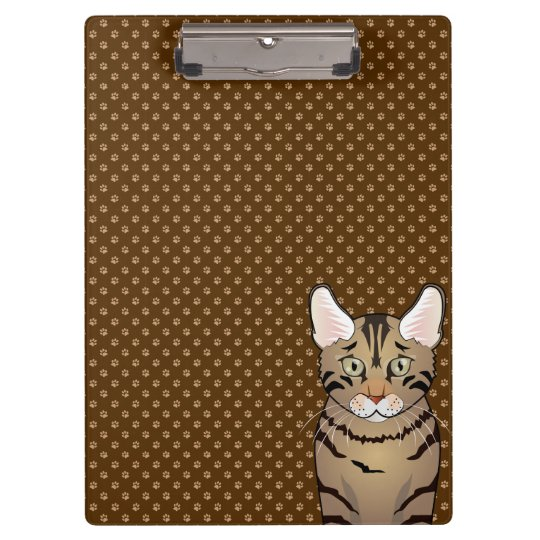 California Spangled Cat Cartoon Paws Clipboards