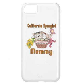California Spangled Cat Mom iPhone 5C Covers