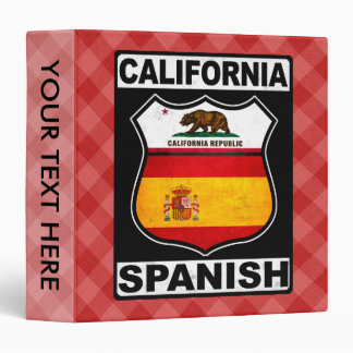 California Spanish American Binder