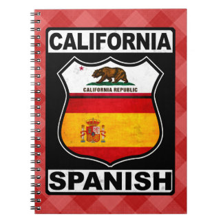 California Spanish American Notepad Notebook