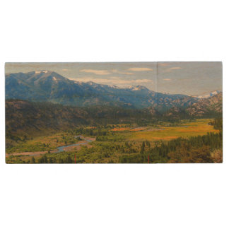 California SR 108 Sonora Pass Wood USB Flash Drive