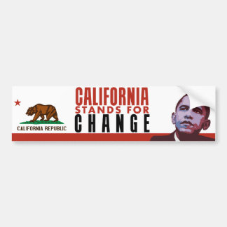 California Stands for Change - Bumper Sticker