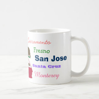 California State and Cities Mug