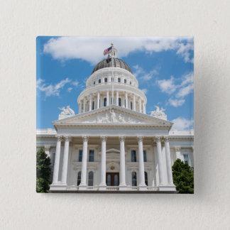 California State Capitol in Sacramento 2 Inch Square Button