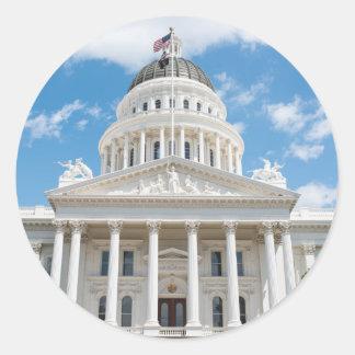 California State Capitol in Sacramento Classic Round Sticker