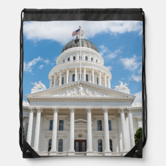 California State Capitol in Sacramento Drawstring Bag