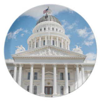 California State Capitol in Sacramento Party Plate