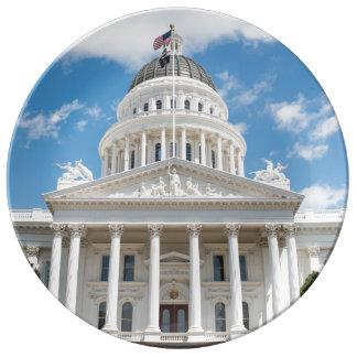California State Capitol in Sacramento Porcelain Plate