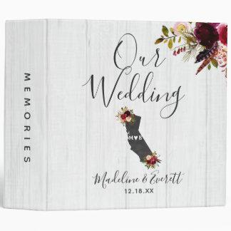 California State Destination Wedding Photo Album 3 Ring Binders
