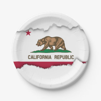 California State Flag 7 Inch Paper Plate