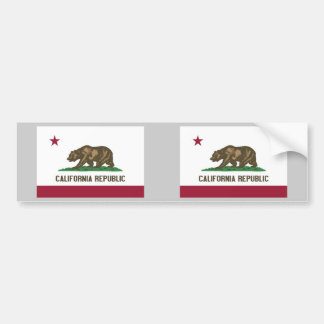 California State Flag Bumper Sticker