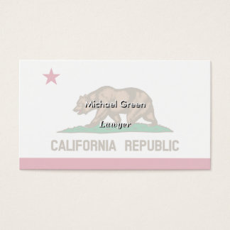 California State Flag Business Card