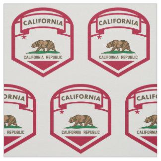 California State flag  crest Fabric