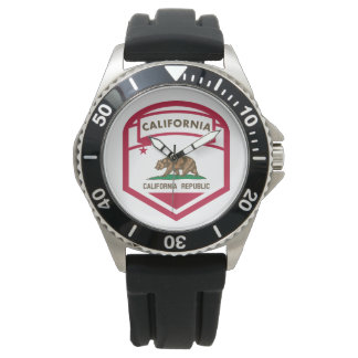 California State flag  crest Watch