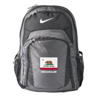California state flag custom Nike backpack
