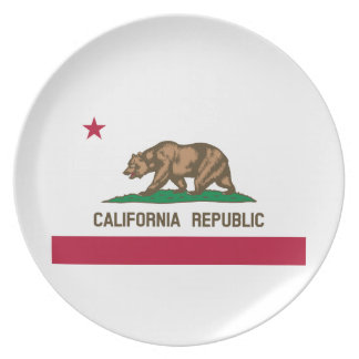 California State Flag Dinner Plates