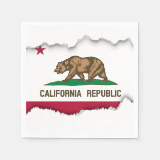 California State Flag Disposable Napkins