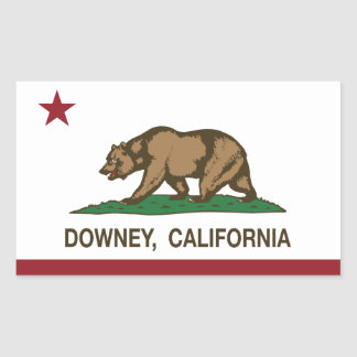 California State Flag Downey Sticker