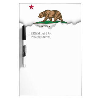 California State Flag Dry Erase Whiteboards