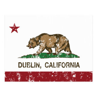 California State Flag Dublin Postcard