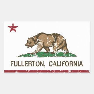 California State Flag Fullerton Sticker